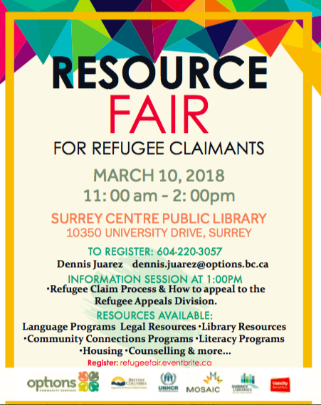Refugee Claimant resource fair